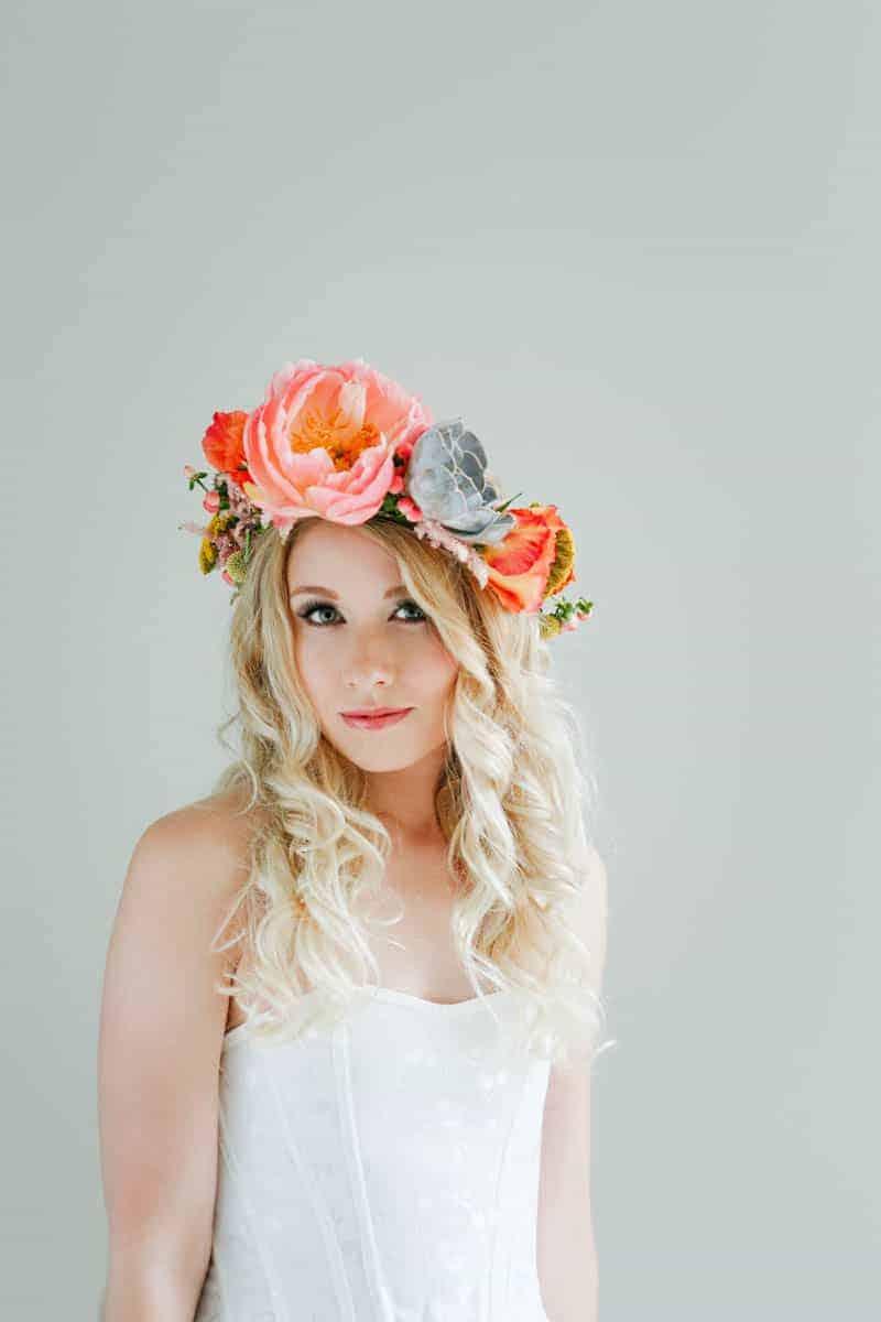 Diy Succulent Flower Crown Bespoke Bride Wedding Blog