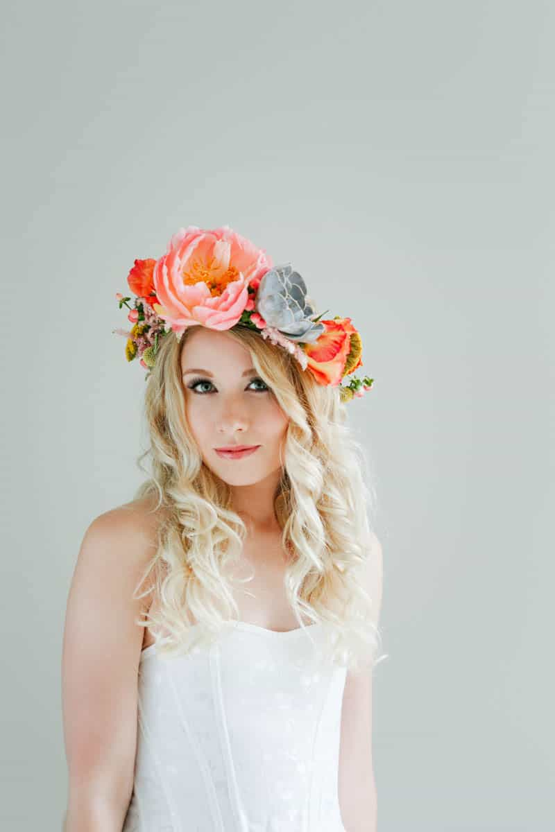 How to make a succulent crown - boho bride