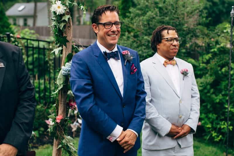 Backyard Flamino themed DIY Wedding in South Hampton USA  (18)