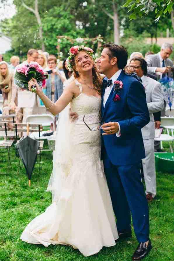 Backyard Flamino themed DIY Wedding in South Hampton USA (21)