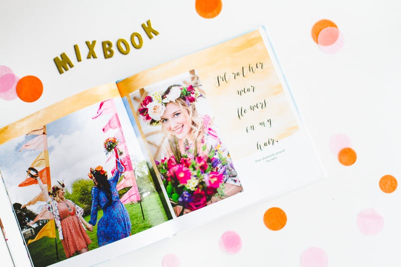 Mixbook Wedding Album printing photo book theme watercolour-2