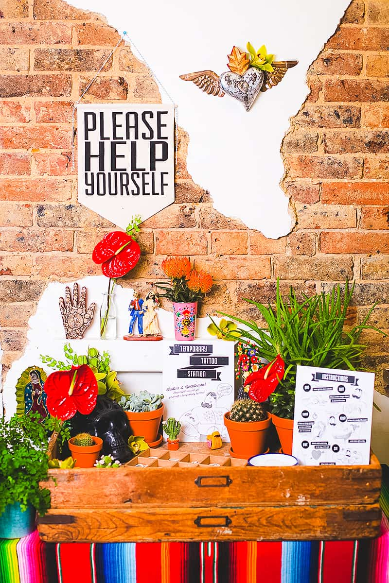 DIY temporary tattoo station with Doris Love Mexican Styling-1