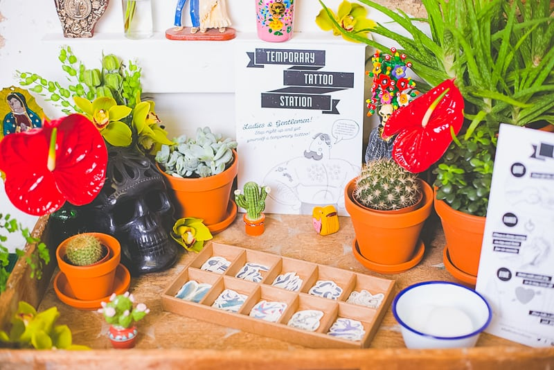 DIY temporary tattoo station with Doris Love Mexican Styling-4