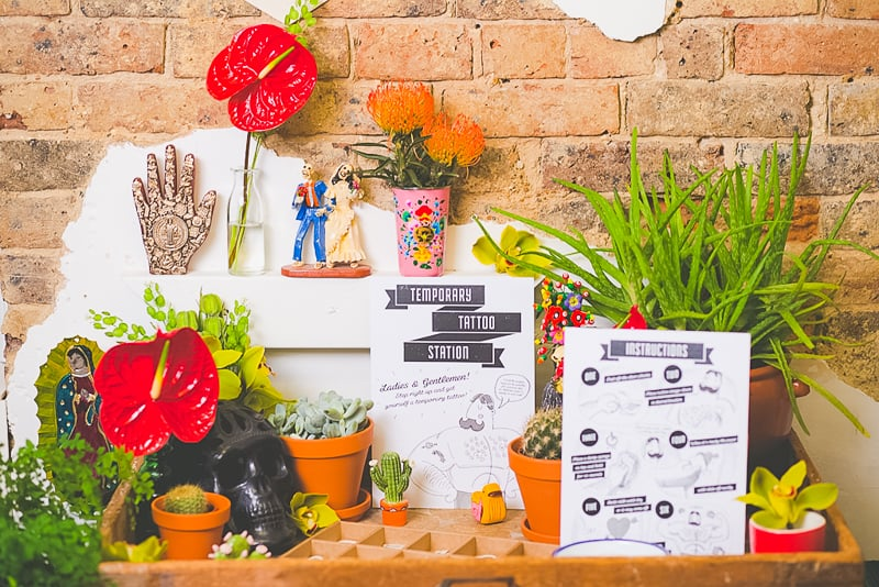 DIY temporary tattoo station with Doris Love Mexican Styling-6