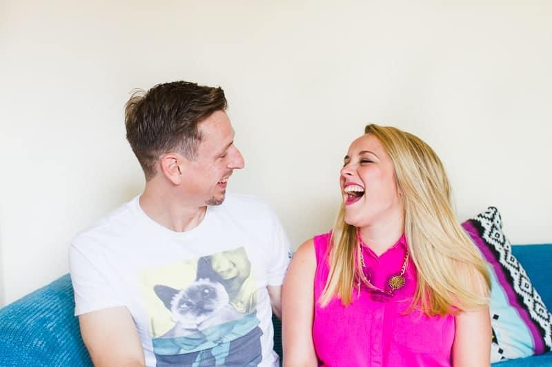 Emily & Matt's big news colourful engagement announcement shoot-3