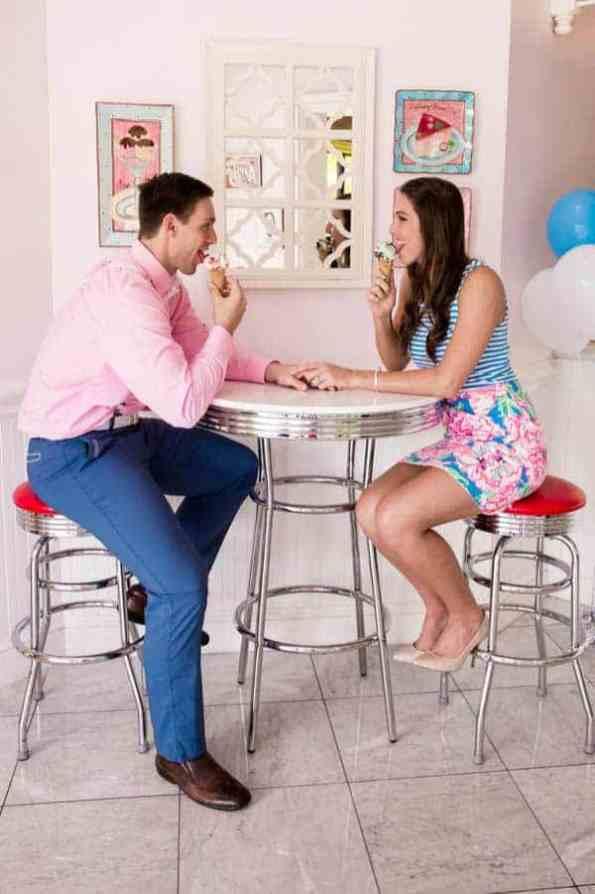 Ice Cream Parlour Engagement Florida (7)