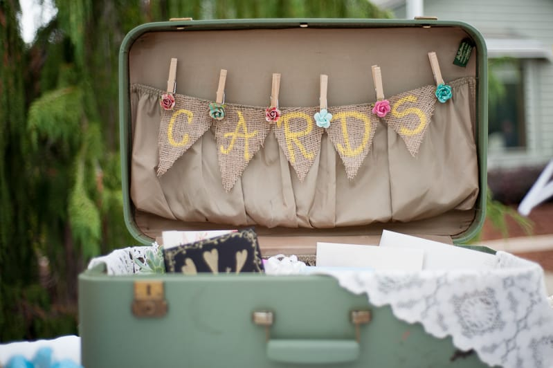 Retro campervan hippie wedding with chevrons & succulents-17