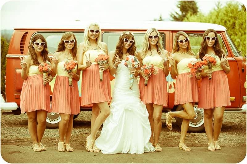 Retro campervan hippie wedding with chevrons & succulents-25