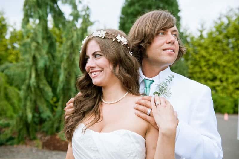 Retro campervan hippie wedding with chevrons & succulents-27