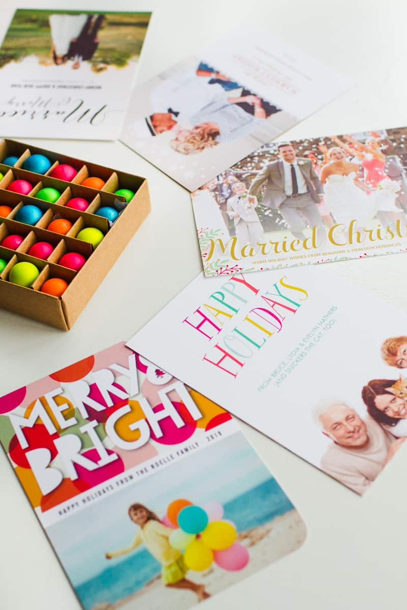 Wedding Christmas Cards Zazzle personalised photo upload bright colourful modern-5
