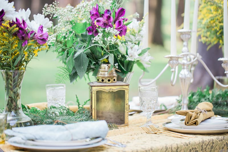 Whimsical Outdoor candles wedding garden intimate_-6