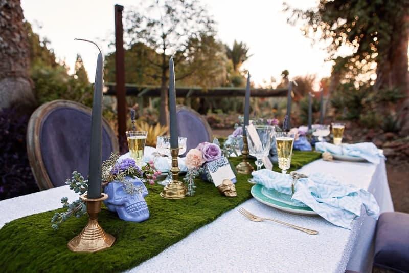 Spring style wedding inspiration skull theme scheme pastel colours modern_-12