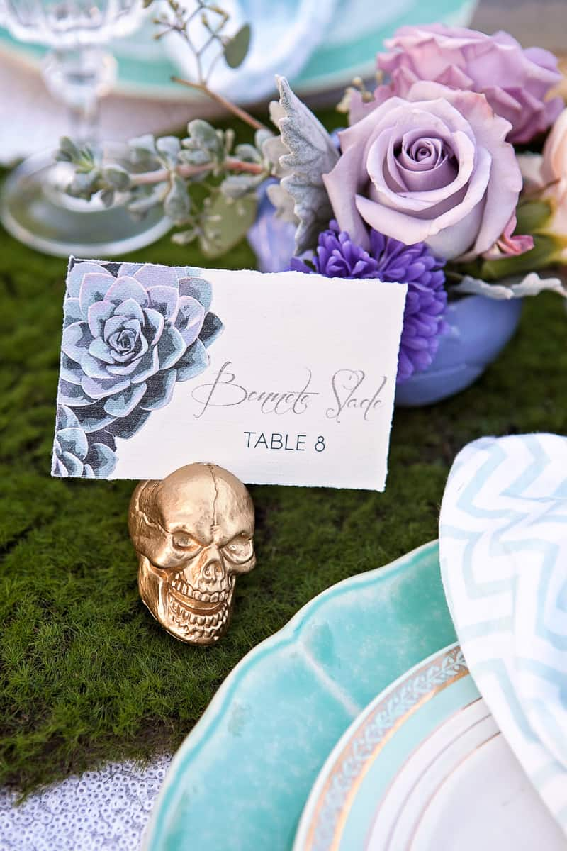 Spring style wedding inspiration skull theme scheme pastel colours modern_-15