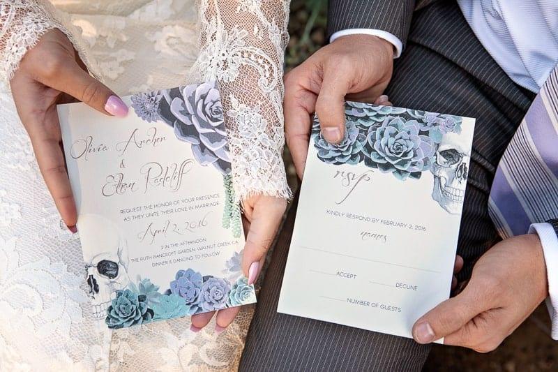 Spring style wedding inspiration skull theme scheme pastel colours modern_-32