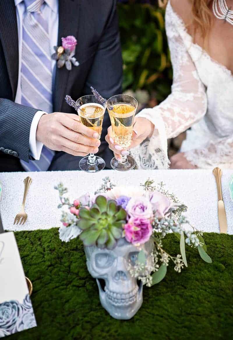 Spring style wedding inspiration skull theme scheme pastel colours modern_-33