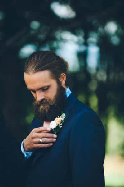 Grooms who know how to wear a man bun