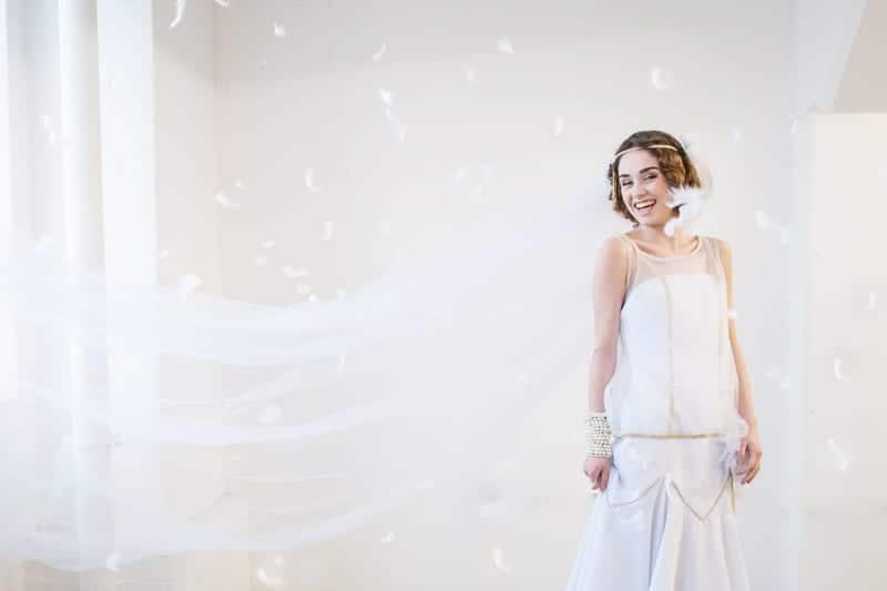 VAUDEVILLE VALENTINE Wedding inspiration Art Deco 1920s theme broadway bright lights and feathers_-38