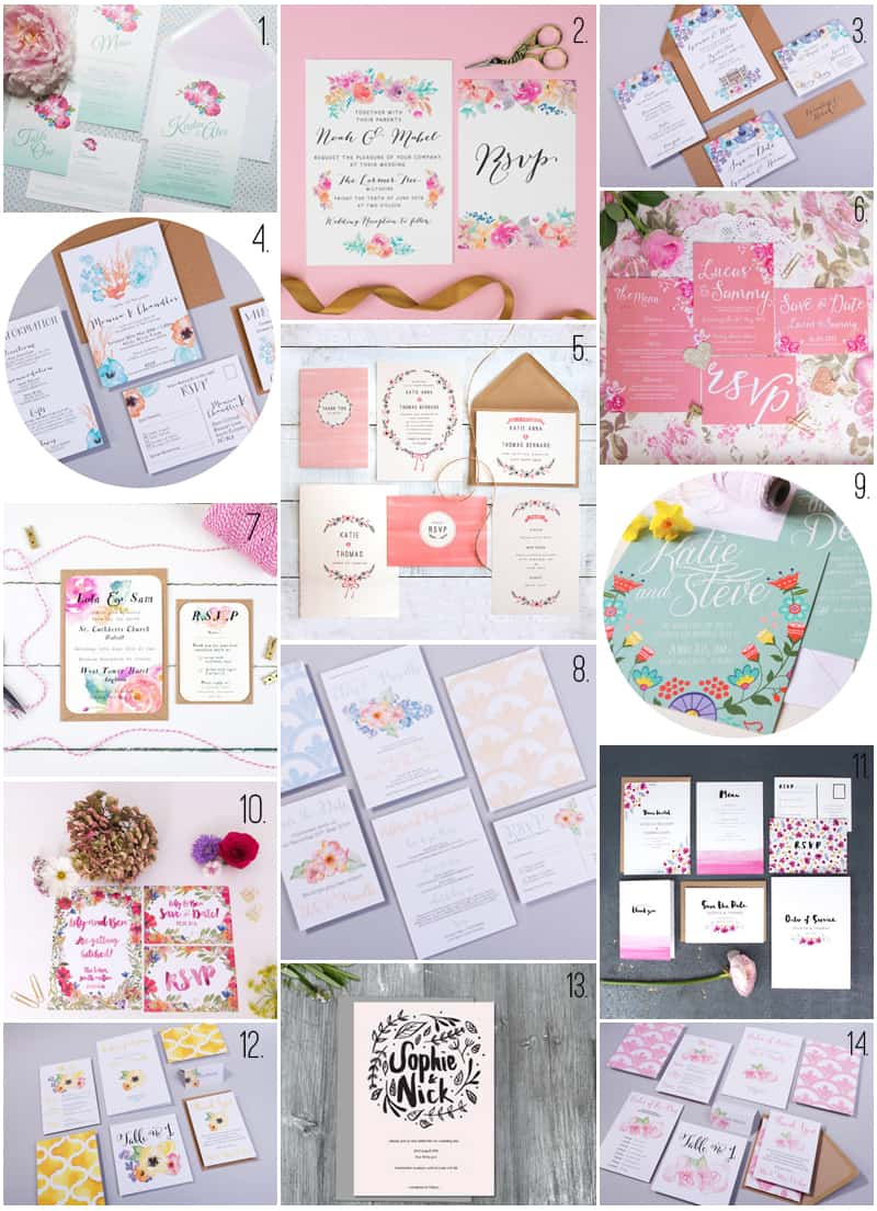 14 STATIONERY SETS FOR YOUR SPRING WEDDING 2