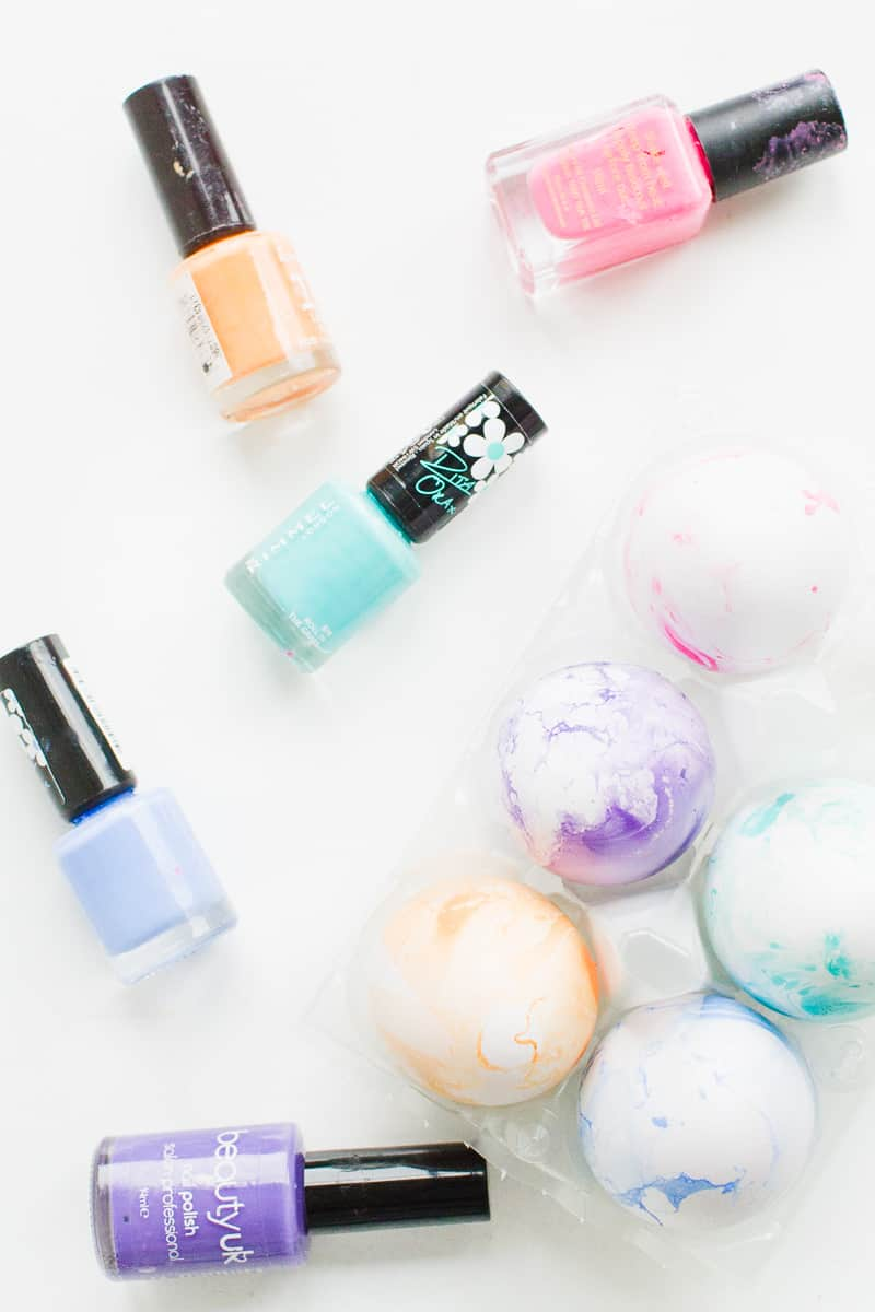 DIY Marble Easter Eggs Pastel Pretty how to make nail varnish easter tutorial spring-11