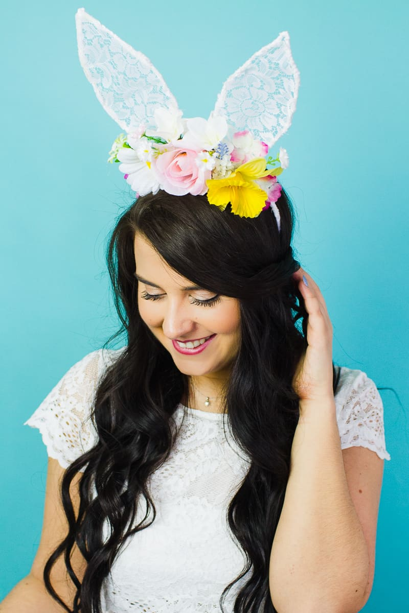 DIY FLORAL BUNNY EARS FOR YOUR MAIDS OR FLOWER GALS