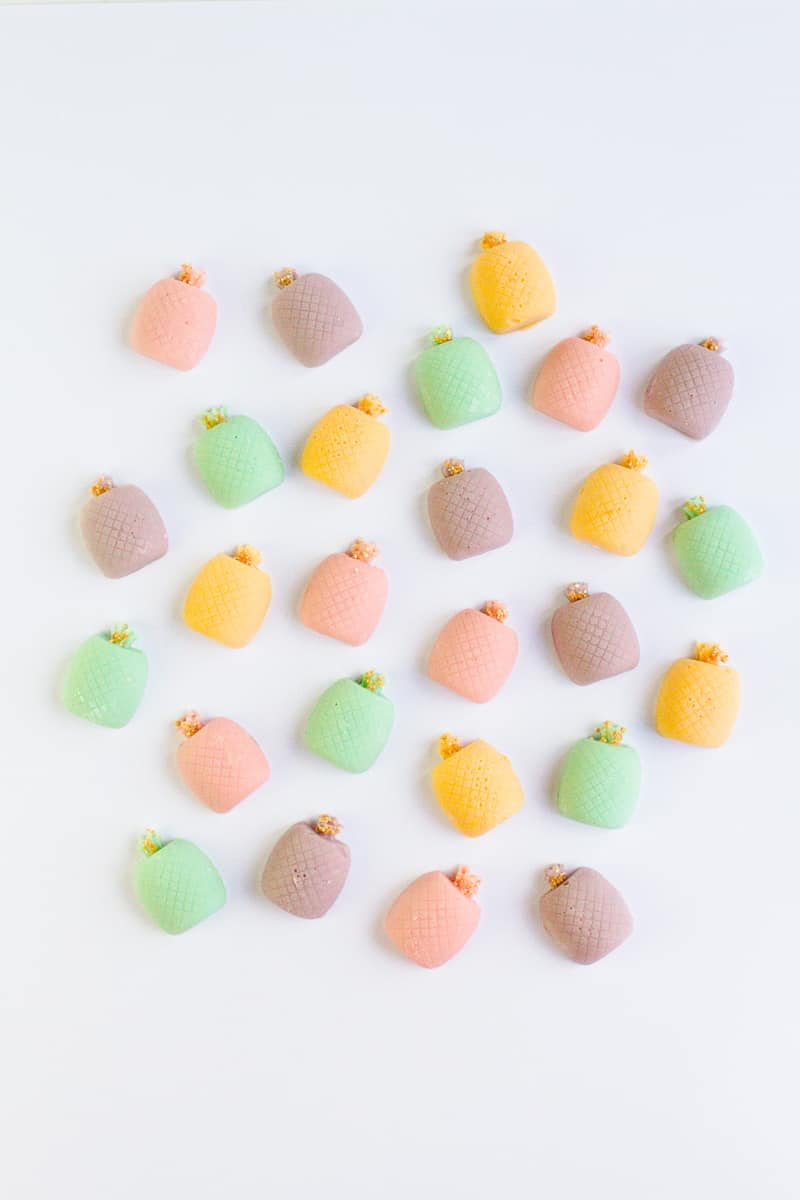 DIY mothers day gift favours chocolate pastel pineapples spring themed easter make your own-5