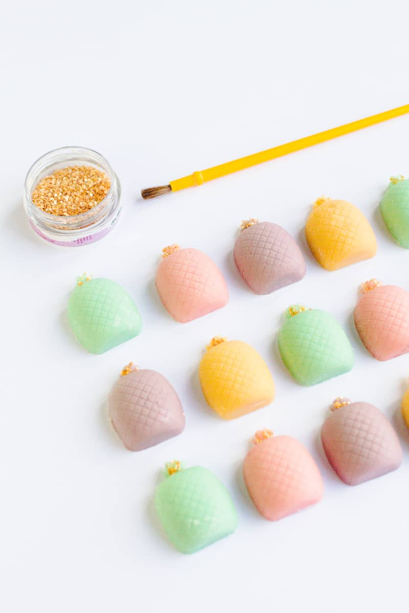 DIY mothers day gift favours chocolate pastel pineapples spring themed easter make your own