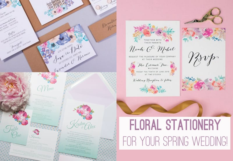 Floral Stationery for your spring wedding 1