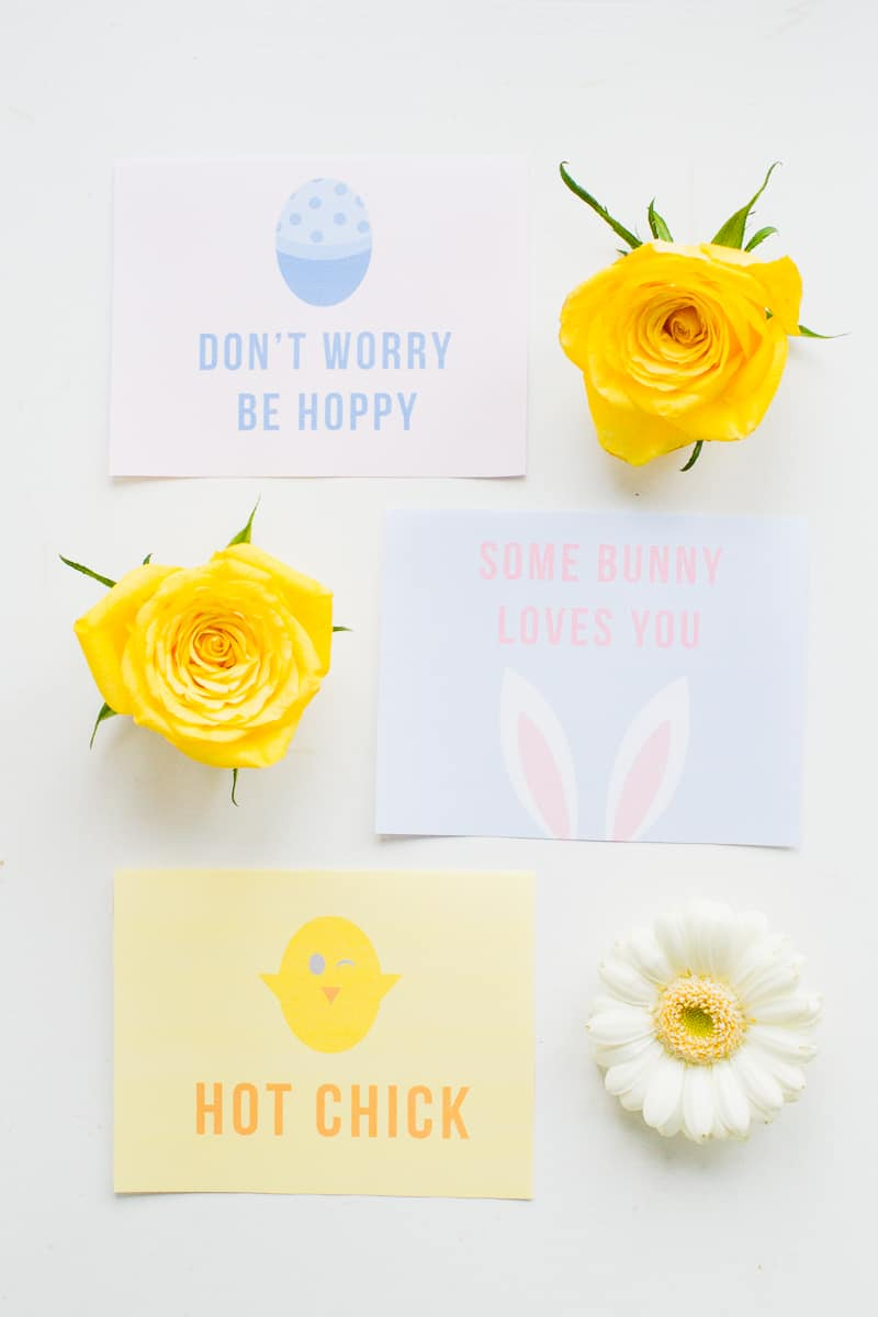Free Printable Easter Cards Puns Some bunny loves you hot chick don't worry be hoppy pastel greeting fun-6