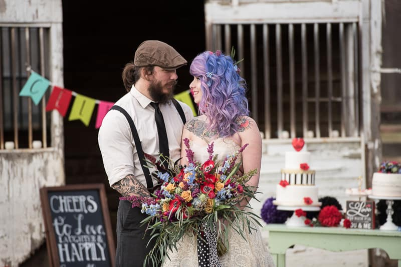 COLOURFUL ROCKABILLY TATTOOED BRIDAL INSPIRATION (2)