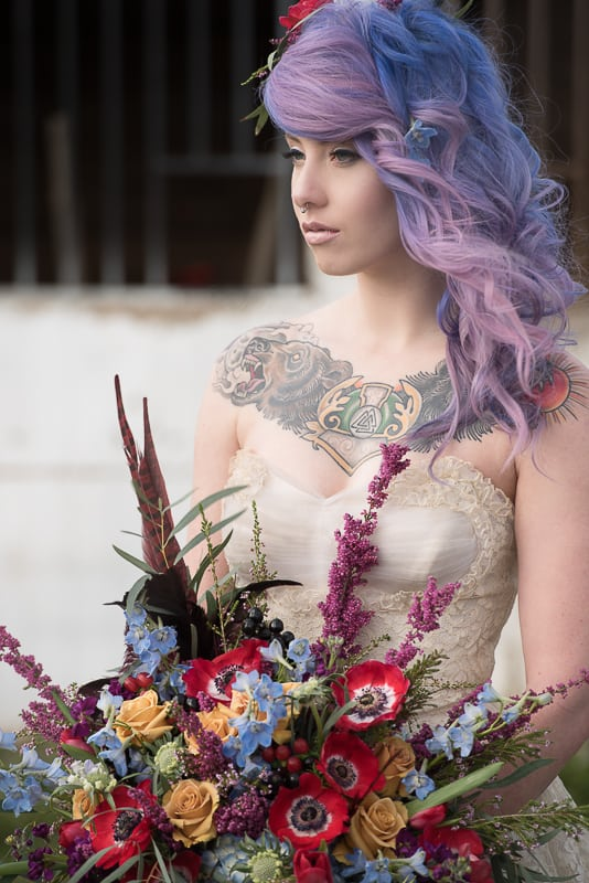 COLOURFUL ROCKABILLY TATTOOED BRIDAL INSPIRATION (3)