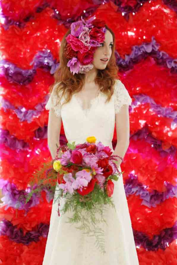 CREATIVE AND COLOURFUL STYLED WEDDING WITH PAPER FLOWERS AND PAPER BACKDROP (15)