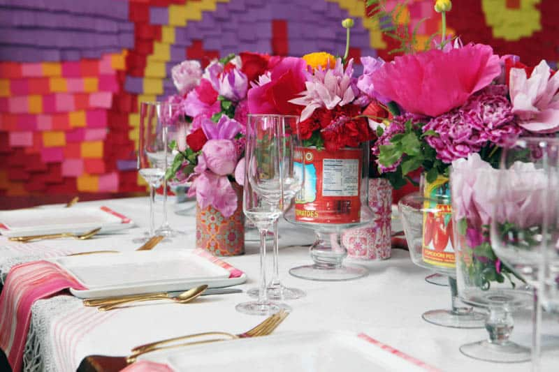 CREATIVE AND COLOURFUL STYLED WEDDING WITH PAPER FLOWERS AND PAPER BACKDROP (4)