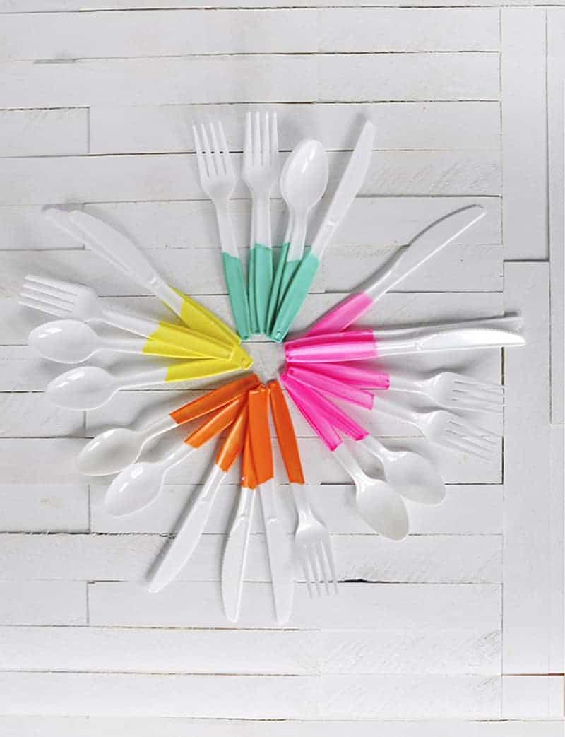 Painted-Plastic-Flatware