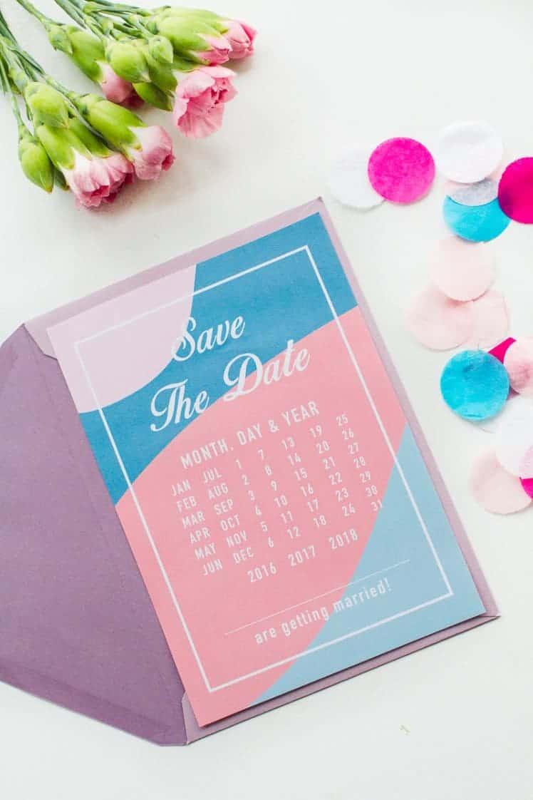 Free-Printable-download-save-the-dates-modern-pink-blue-colour-scheme-calendar-3