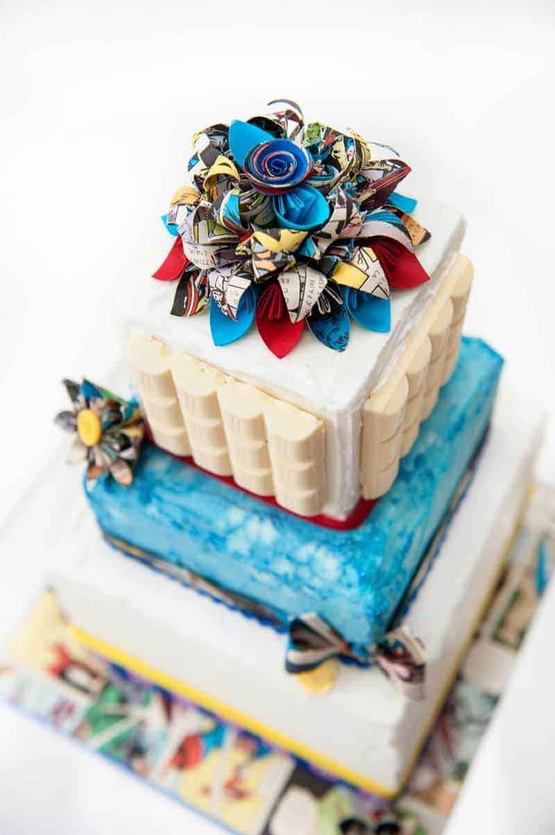 SUPER HERO THEMED WEDDING IDEAS BespokeBride Wedding Blog - Comic Book Wedding Cake