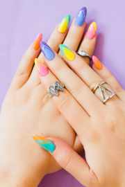 bright and colourful geometric
