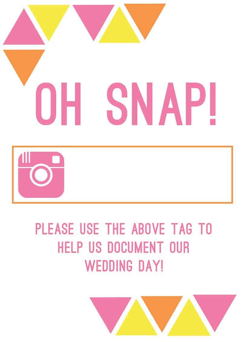 Instagram Page Free Printable Hashtag
