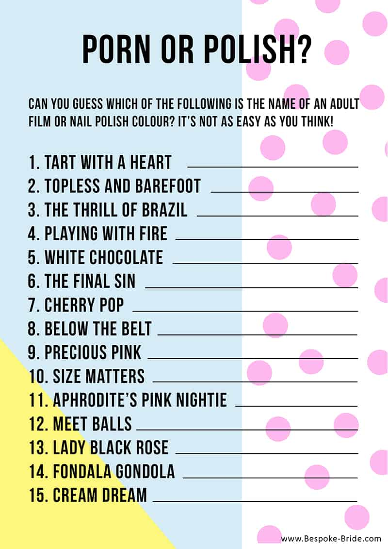 It is a graphic of Modest Free Printable Bachelorette Party Games