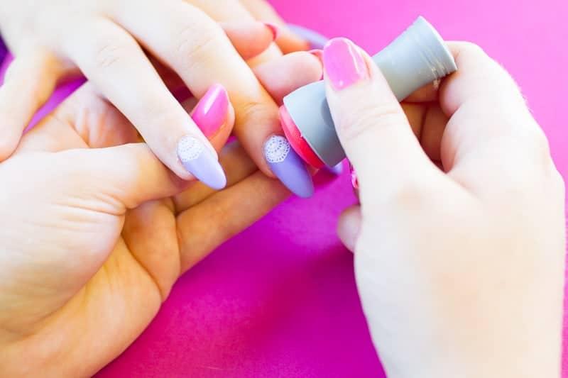 Festival Lace Bridal Nails Lavender Purple Elegant Glastonbury Nail Tutorial_-3