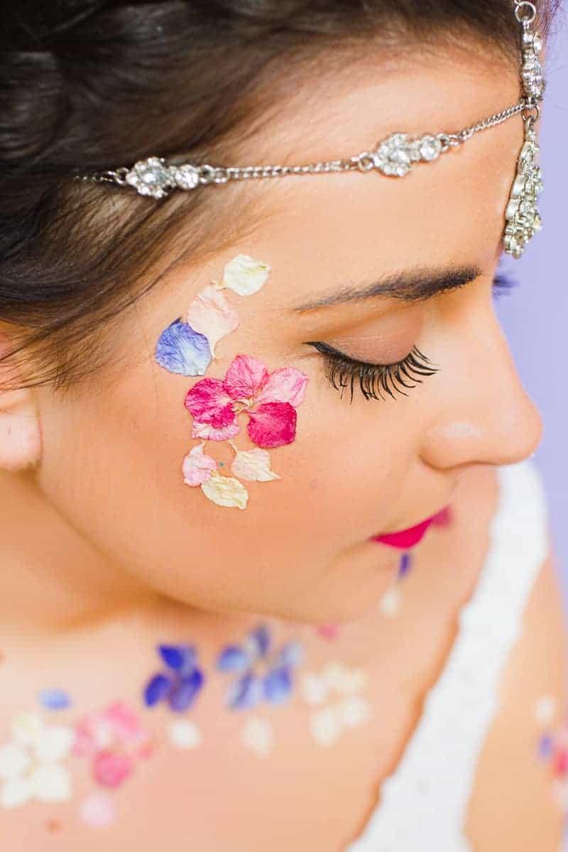Flower Tattoos Temporary Festival Wedding Inspiration Ideas How to DIY confetti shropshire petals glastonbury style-7