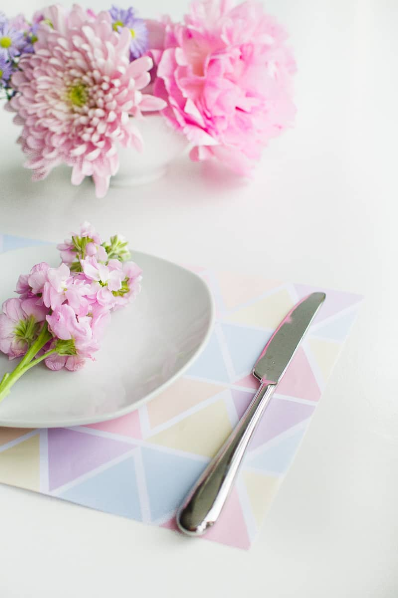 Free Printable Pastel Place Mats Placemats Geometric Colourful Table Decor Wedding_-5