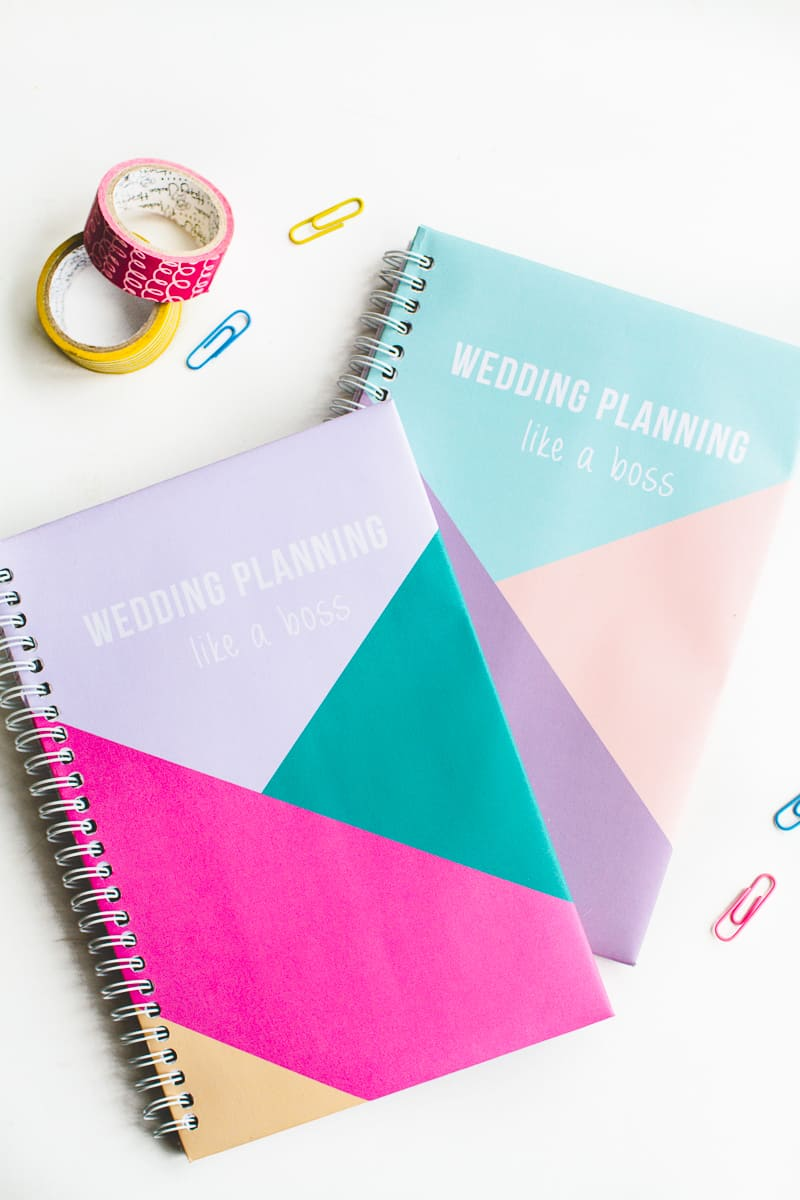 Free printable notebook cover wedding planning geometric modern notes stationery-6