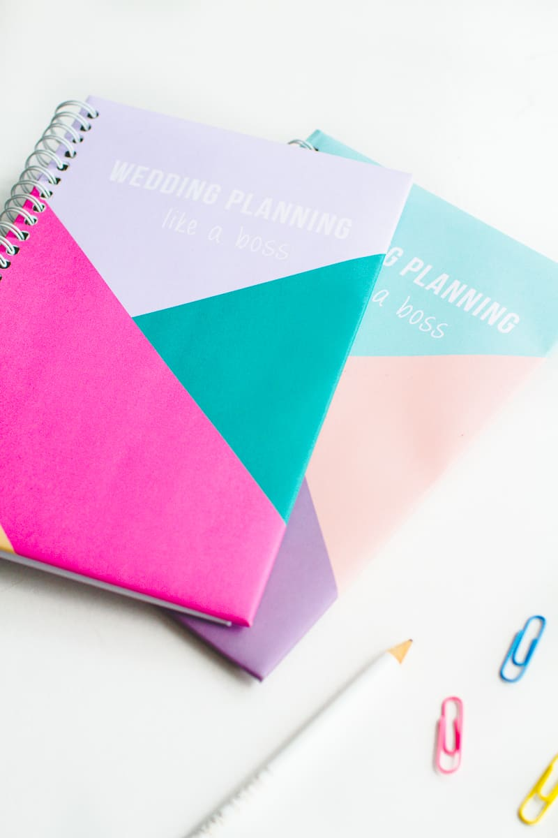 Free printable notebook cover wedding planning geometric modern notes stationery-7