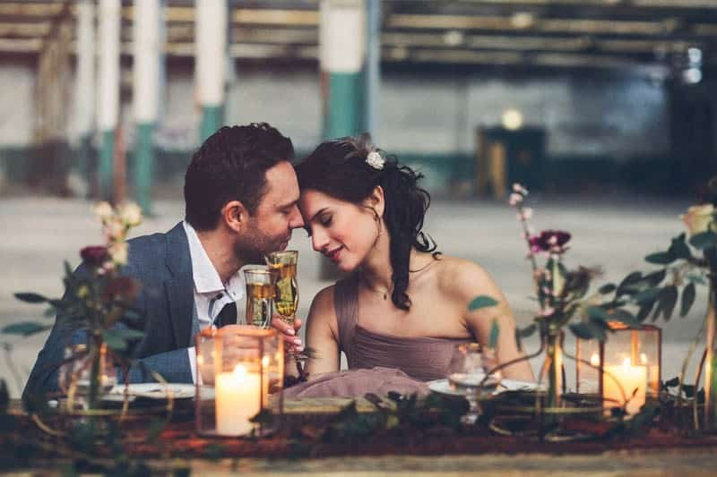 INDUSTRIAL-BOHEMIAN-STYLED-SHOOT-IN-AN-ABANDONED-WAREHOUSE-COOL VENUES