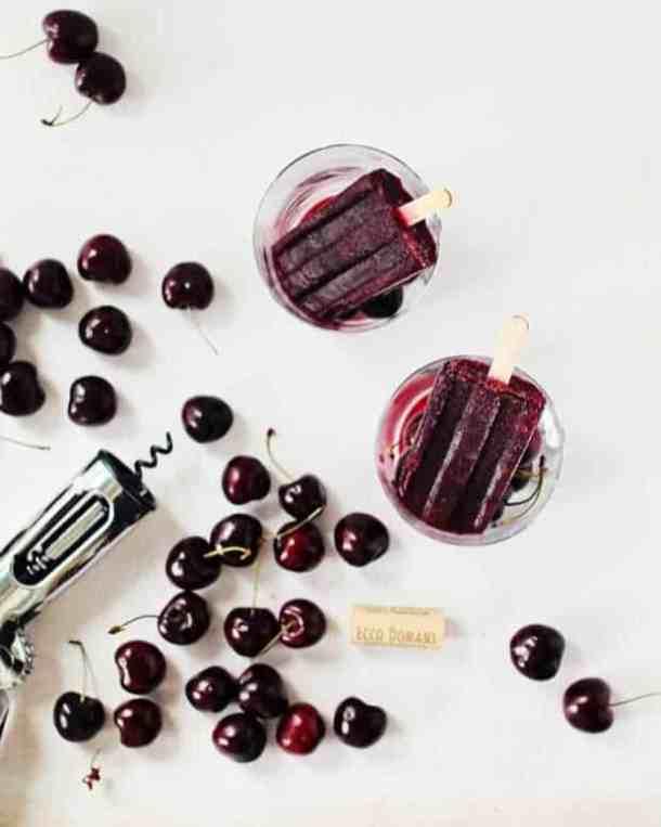 Merlot & cherry wine popsicles