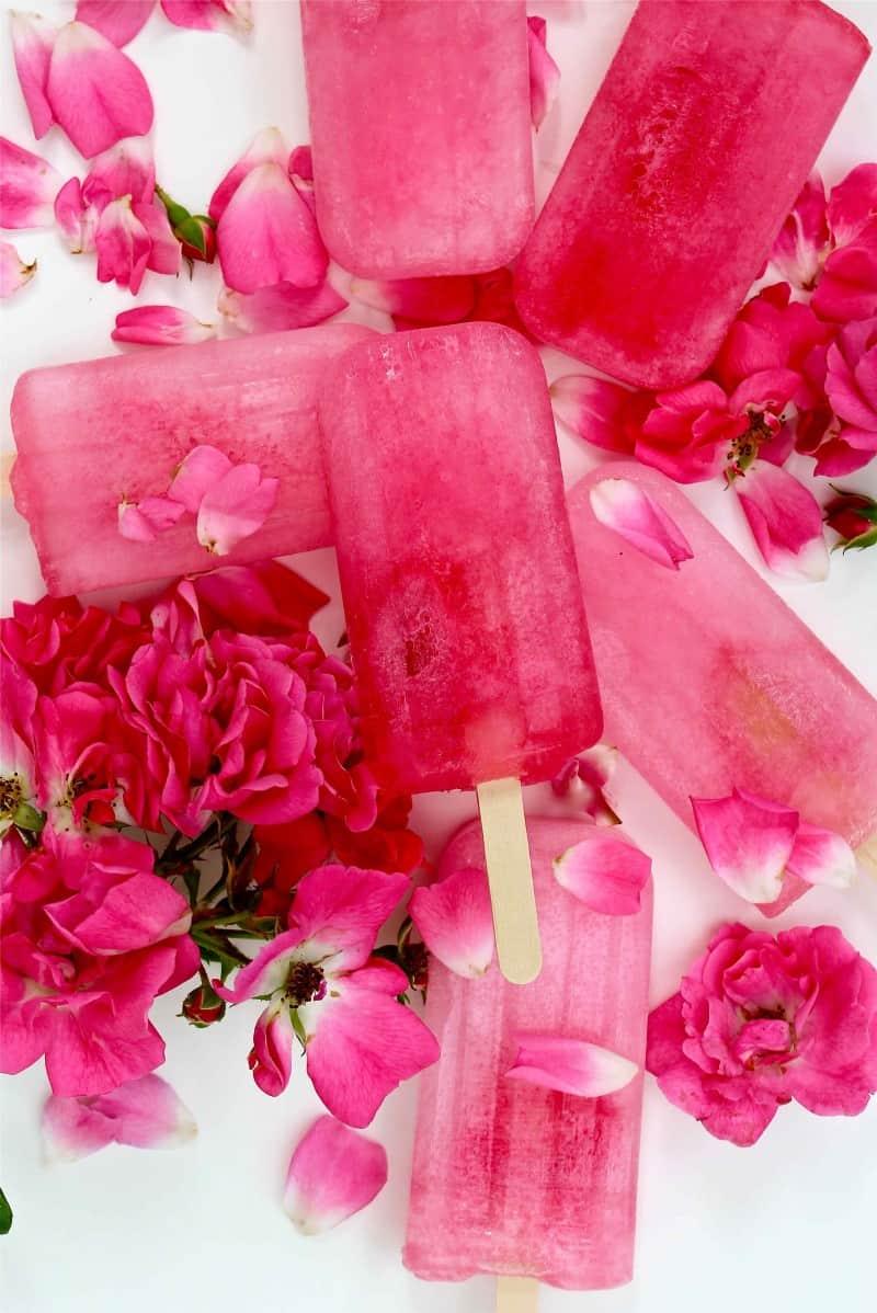 Rhubarb & Elderflower homemade-ice-lollies