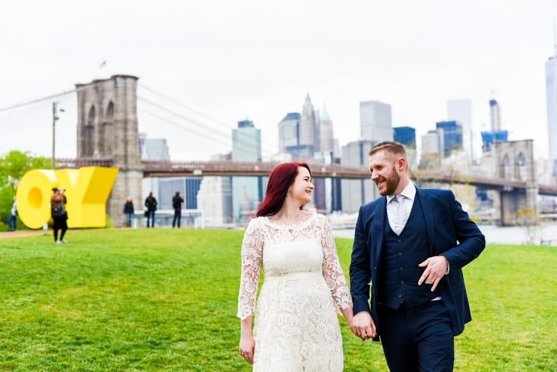 SWEET NYC, BROOKLYN BRIDGE ELOPEMENT COLOURFUL WALL MURALS (13)