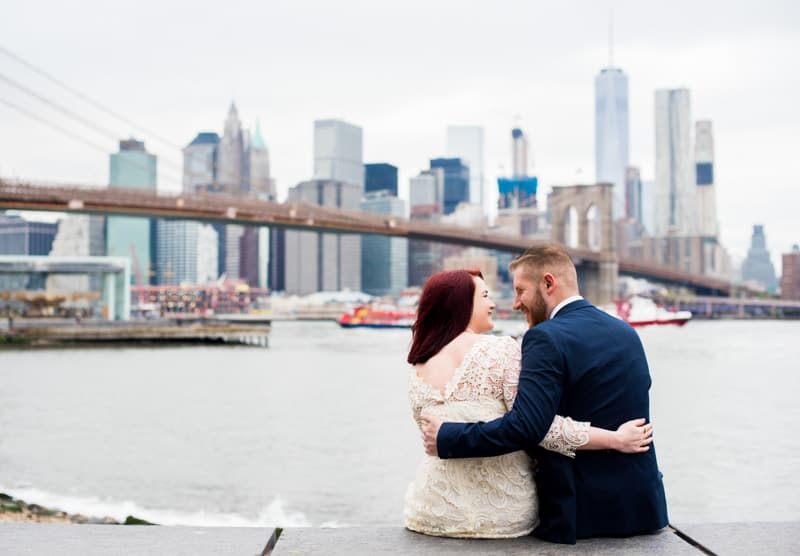 SWEET NYC, BROOKLYN BRIDGE ELOPEMENT COLOURFUL WALL MURALS (14)