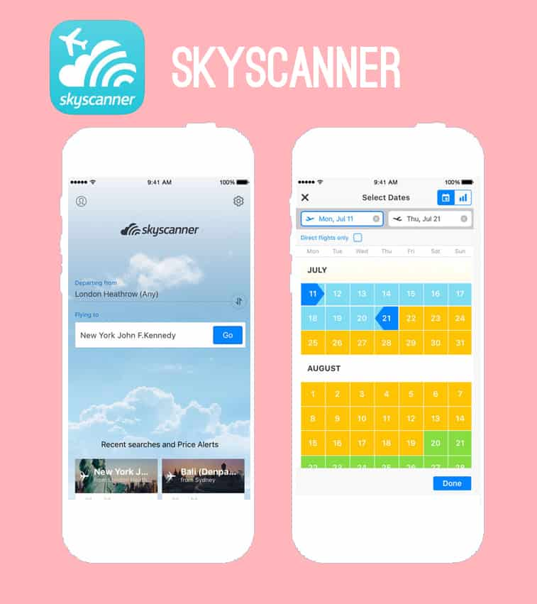 Skyscanner honeymoon app