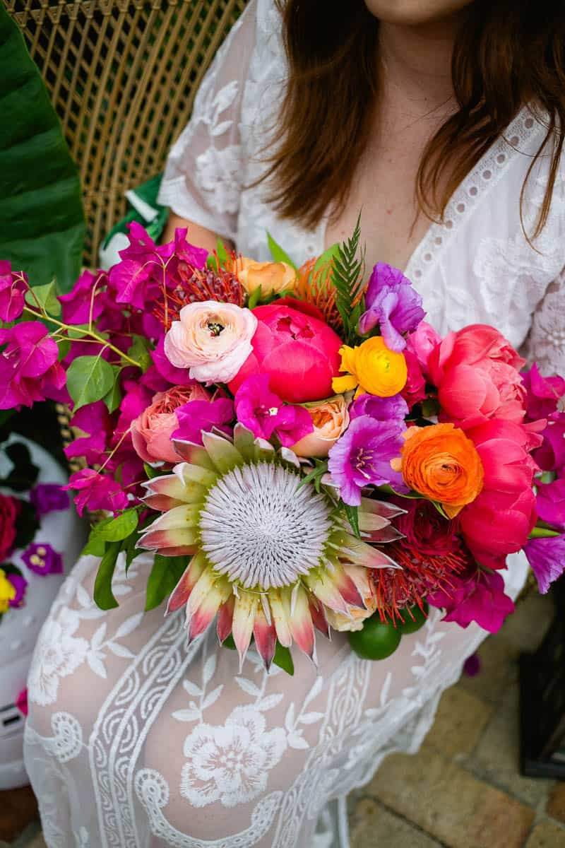 COLOURFUL TROPICAL PINK BRIDAL SHOWER WITH RAINBOW DESSERTS (3)